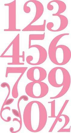 Col1418 Collectable: Elegant numbers Title Font, Scrapbook Titles, Marianne Design, Border Design, Felt Toys, Craft Items, Word Art, Silhouette Cameo, Numbers