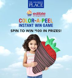 Play the Color-A-Peel Instant Win Game every day until April 16, 2017 for a chance to win $100 prizes from The Children's Place and Edible Arrangements®!
