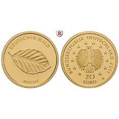 Bundesrepublik Deutschland, 20 Euro 2011, nach unserer Wahl, A-J, 3,89 g fein, st: 20 Euro 3,89 g fein, 2011 nach unserer Wahl, A-J.… #coins