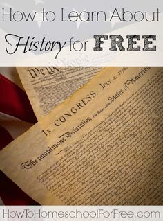 Looking for a full history curriculum or just need to supplement? Check out these FREE US and World History resources!