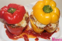 ground beef and mashed potatoes stuffed peppers- easy family meals, quick and easy recipes for lunch or dinner, stuffed peppers, ground beef, poataoes