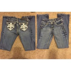 LA IDOL jeans LA IDOL jeans . Size 28 length 34 . The diamond button is loose from wear . Jeans have always been dry cleaned . Jeans Flare & Wide Leg