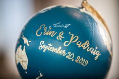 Wedding globe, wedding ideas, personalise your wedding. Photographers Tara & Dave have over 10 years experience shooting weddings all over the globe.