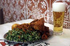 Nova Capela, na Lapa/Rio: Cabrito, alho, arroz com brócolis: receita da felicidade à mesa.