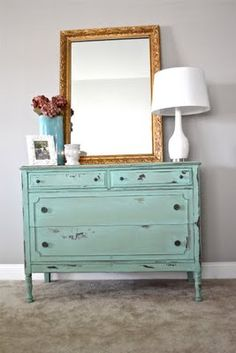 i definitely am interested in getting vintage furniture like this and painting it
