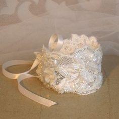 Bracelet Dentelle. Bijou Couture. Mariage/ Sophie Ducomte Création