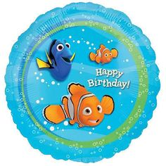 7 pc Finding Nemo Happy Birthday Balloon Bouquet Party Decoration Dory Pixar