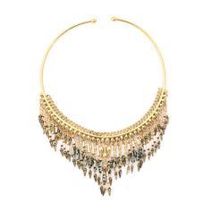 Gas Bijoux - Golden white necklace