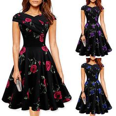 Vintage Rockabilly 50er Jahre Partykleid Petticoat Gothic Jive Pin Up Dresses