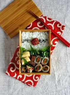 R journal: 豚肉巻き弁当・Pork and veggies rolled-up bento