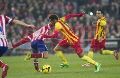 FC Barcelona, Neymar Jr. desplazándose. | Atlético de Madrid 0-0 FC Barcelona. [11.01.14]