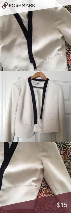 Contrast black & white tuxedo jacket Stylish jacket to wear over a dress or with jeans . Forever 21 Jackets & Coats Blazers