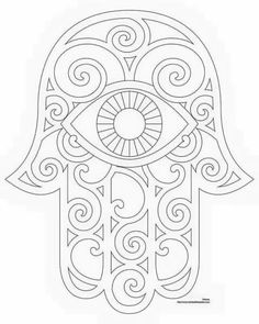 Popular Embroidery Designs Don't Eat the Paste: Hamsa Coloring Page and Embroidery Patterns - Don't Eat the Paste has lots of free and original craft projects, crochet and knitting patterns, printable boxes, cards, and recipes. Embroidery Designs, Embroidery Transfers, Hand Embroidery Patterns, Modern Embroidery, Embroidery Thread, Knitting Patterns, Simple Embroidery, Free Coloring Pages, Hand Coloring