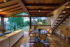 Casa de Campo en Manaos, Brasil Moderno con detalles rústica