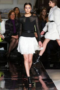 Inspired to start wearing more simple black and white - Jason Wu Fall 2013 #NYFW