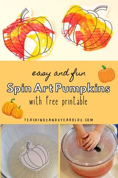 Grab Your Salad Spinner For This Fun Toddler Pumpkin Art Activity. Accompanies A Free Pumpkin Printable Grab Your Salad Spinner For This Fun Toddler Pumpkin Art Activity. Accompanies A Free Pumpkin Printable Grab Your Salad Spinner For