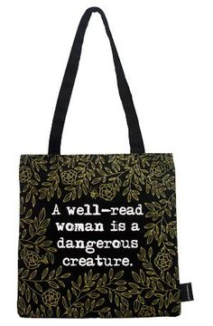 a well-read woman tote