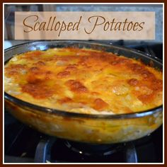Scalloped Potato recipe.     Surely has to better than the stuff that comes in a box