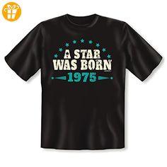 Geschenk zum 42 Geburtstag - lustiges T-Shirt 42 Jahre STAR 1975 - cooles  Vintage. PartnerBirthdayFunnyGift