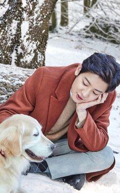 Chanyeol e catchorinho Park Chanyeol Exo, Kpop Exo, Kyungsoo, Exo Chanbaek, Kdrama, Baby Park, Nature Republic, Kim Minseok, Xiuchen