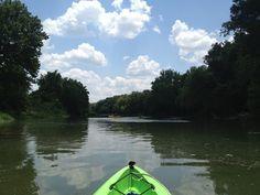 Kayaking the Colorado River, Bastrop, TX