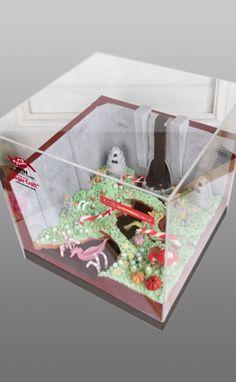"""画像D:2011キャンペーン賞品 """"シュガークラフト"""" チョコレートの川を再現しましたー!"""