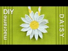 How to Make a Macrame Daisy Flower - Tutorial - YouTube