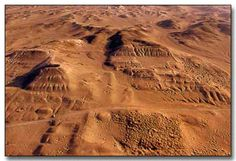 Archaeological site of Cahuachi. Peru  said to be 'the dwellings of line drawers at Nazca'