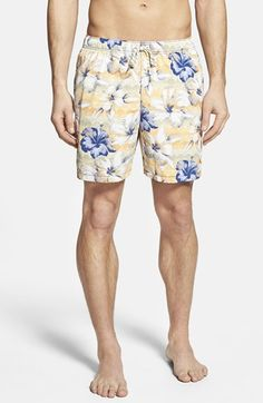 Tommy+Bahama+'Naples+Hibiscus+Terrace'+Floral+Print+Swim+Trunks+available+at+#Nordstrom