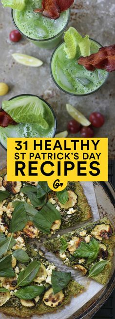 Skip the food dyes and go clean and green with these 31 #StPatricksDay Recipes!