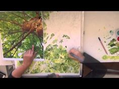 Painting trees and leaves with watercolor : Leaves Lace - YouTube
