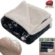 Blanket Sherpa Fleece Throw Velvet Warm Soft Cheetah Sofa Bed Winter Reversible  #LavishHome