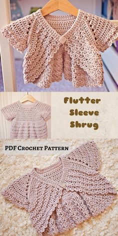 This little shrug is so cute and can be worn with casual outfits or for special occasions like flower girls. #crochetpattern #crochetforbabygirl #crochetshrug #afflink