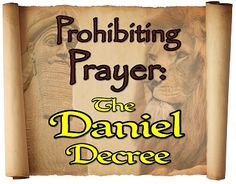 """Prohibiting Prayer: The Daniel Decree"" Synopsis: No lines to learn! A retelling of the story of Daniel and the Lion's Den from a new perspective. The Chief Scribe to King Darius, responsible for chronicling events in the kingdom, tells the story that he and his son witness and became participants in. Both he and his son learn that they can trust Daniel's God like he does. Length of play with soundtrack: 35 minutes."