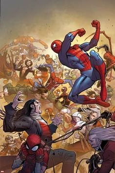 Art Print: The Amazing Spider-Man No. 14 Cover, Featuring: Spider-Man, Morlun, Silk and More : 18x12in