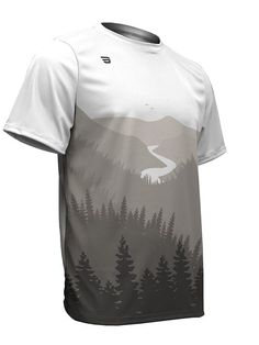 Biking Jersey - Game Gear Adult Men s Sublimated Mountain Scenery Short  Sleeve Shirt (Medium ca39d7e96