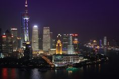 Lui Jia Zui and the bend in the Huangpu River, Shanghai | Flickr - Photo Sharing!