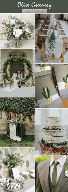 Wedding trends 10 beautiful wedding colors with lush green Wedding Trends 10 Gorgeous Wedding Colors with Lush Greenery Olive green moody wedding color palete ideas Kristina Munivrana - Olive Green Weddings, Olive Wedding, Rustic Wedding, Trendy Wedding, Summer Wedding, Sage Wedding, 2018 Wedding Trends, Wedding Themes, Trends 2018