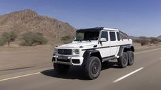 The Mercedes-Benz G 63 AMG is a massive off-roader that is heading for production. 6x6 Truck, Suv Trucks, Cool Trucks, Diesel Trucks, Lifted Trucks, Mercedes Benz G63, New Mercedes, Muddy Trucks, 2014 Jeep Grand Cherokee