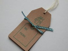Pack of 3 handmade gift/luggage labels. by Pearlypantscrafts, £1.20