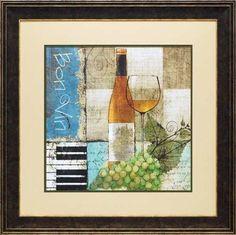 'Bon Vin' by Keith Mallett Framed Painting Print