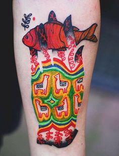 Joanna Swirska Dzo Lama fish tattoo
