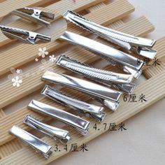 【小虾米丝带】高档加厚平夹 方夹 金属发夹 发饰手工DIY配件