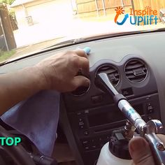 Car High Pressure Cleaning Tool - ⭐⭐⭐⭐⭐ The Car High Pressure Cleaning Tool makes interior detailing fast, easy and effective. Car Cleaning Hacks, Car Hacks, House Cleaning Tips, Diy Cleaning Products, Cleaning Solutions, Car Interior Cleaning, Car Seat Stain Remover, Car Upholstery, Upholstery Cleaning