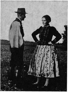 tápéi pár 1934 Folk Costume, Costume Dress, Costumes, Hungarian Embroidery, Folk Dance, Embroidery Patterns, Past, Traditional, Times