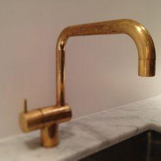 Arne Jacobsen; Brass Faucet for Vola, 1968.