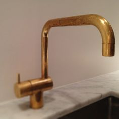 Arne Jacobsen; Brass Faucet for Vola, 1968.