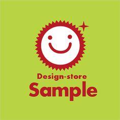 太陽スマイルロゴ - ロゴ作成|ネイルサロン・美容室・サロン系なら女性系ロゴデザイン販売 【LOGO- SPOT】ロゴスポット