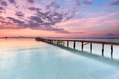 Morgenstimmung am Strand von Alcudia, Mallorca, Spanien