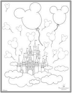 disneyland castle coloring pages 10